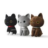 美しいぬいぐるみのおもちゃの黒猫