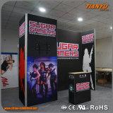 cabine promotionnelle de salon de contexte en aluminium du tissu 3X6