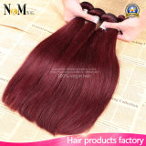 異なったタイプ99jバーガンディの中国のペルーのインドのマレーシアのブラジルのバージンの毛のかぎ針編み