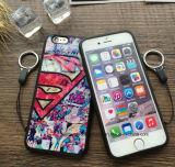 Капитан Америка шаржа для Se 6 добавочного & 5 Падени-Доказательства iPhone6/6 s с случаем раковины веревочки Hang мягким