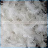 Помытое белое перо гусыни используемое для заполнять