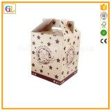 Rectángulo de regalo de papel modificado para requisitos particulares para el embalaje de la Navidad