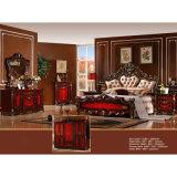 De klassieke Reeksen van het Meubilair van de Slaapkamer met Classic Bed en Garderobe (W810)