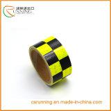 Etiqueta reflexiva da fita de advertência da segurança da manta amarela e preta