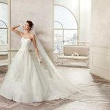 Il merletto Backless dell'innamorato di nuovo arrivo Appliques il vestito da cerimonia nuziale 2017