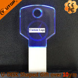 Vara do USB do logotipo da gravura do laser para os presentes chaves de cristal (YT-3213-10)