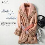 Nouveau manteau en cuir véritable et fourrure avec tricot