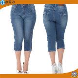 Jeans de dames de Jeggings d'extension des jeans des femmes maigres