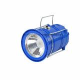 LED Portable 야영 태양 재충전용 손전등 플래쉬 등