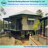 La casa prefabricada prefabricó el chalet del acero del calibrador de la luz de la casa