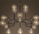 Iluminação moderna do candelabro do projeto da lâmpada do pendente de Decoratvie da esfera de vidro
