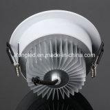 El LED ahuecó el diámetro 7W de 109m m SMD ultra que delgado abajo se enciende
