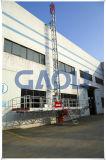 Mast-kletternde Plattform eingehangene Luftarbeit-Plattform