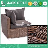 Wicker Daybed Rattan Sunbed Sun Bed Bench Daybed Leisure Daybed Sofá Duplo Varanda Daybed Deck Daybed Outdoor Furniture Mobília do pátio (estilo mágico)