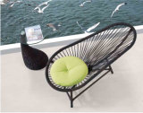 Бассеин Loungechairs-1 кровати ротанга балкона крыши песчаного пляжа лежа