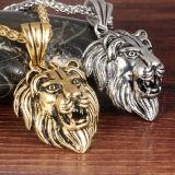 人の贅沢なステンレス鋼の男性の宝石類の友情のギフトのためのHip Hopのライオンヘッド吊り下げ式のネックレス