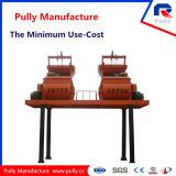 Capacité 50 mélangeur concret de Cbm/H de fabrication de poulie grande à arbre de 90 Cbm/H de double (JS500-JS1500)
