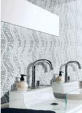 Mosaico de mármol blanco mezclado cristalino del material de construcción para el azulejo de la pared (FYSC301)