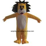 Costume animale del fumetto della mascotte della peluche del leone giallo