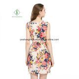 2017 Form-Chiffon- gedruckte Strand-Kleid-reizvolle Maxi Kleid-Fabrik