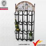 Het uitstekende Hangen van de Muur van het Rek van de Wijn van de Plank van de Vertoning