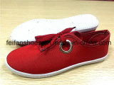 Hotsellの女性の注入のズック靴の偶然靴