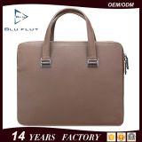 Изготовленный на заказ способ логоса кладет неподдельные полные сумки в мешки портфеля кожи с сохранённым природным лицом