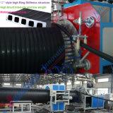 Spirale della parete della struttura dell'HDPE e riga vuote della macchina di produzione del tubo di riavvolgimento