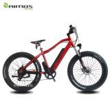 """"""" bicicleta elétrica da montanha gorda da neve do pneu 26 com bateria escondida"""