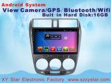 Reprodutor de DVD Android do carro do sistema para a cidade de Honda tela de uma capacidade de 10.1 polegadas com Bluetooth/WiFi/GPS