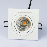 Warmer Weiß 7W 9W PFEILER LED quadratisches Downlight