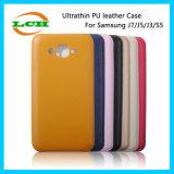 Samsung J7/J5/S5를 위한 Ultrathin 연약한 PU 가죽 전화 상자