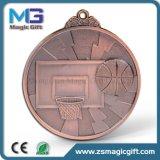Vendas quentes medalha de cobre personalizada com a caixa de presente de veludo