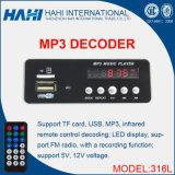 Decoder-Vorstand der Aufnahme-316L Audio-MP3 mit USB/TF Karte