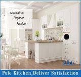 2016年のポーランド人白いPVC MDFの台所