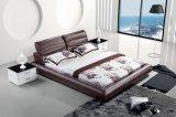 Base suave del cuero de los muebles del dormitorio (SBT-5833)
