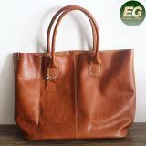 Bolsas macias Emg4880 do desenhador do Tote do couro genuíno das mulheres retros da qualidade superior