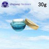 Sahne-Glas des Gesichts-30ml50ml100ml mit Aluminiumschutzkappen für kosmetische Gläser