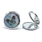 Specchio sveglio del compatto del metallo del ricordo reso personale piegatura decorativa