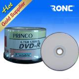 Disco em branco 4.7GB 120mis de Princo DVD com pacote do Shrink 50PCS