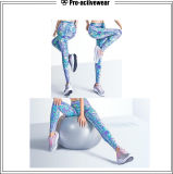 De hoge Broek van de Yoga van de Sport van de Elasticiteit Modieuze Lopende Sexy Kleurrijke