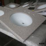 Parte superiore di vanità del marmo del controsoffitto della stanza da bagno di Lowes