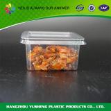 Conteneur remplaçable de plats à emporter d'animal familier en plastique clair