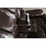 Самомоднейшая живущий софа Recliner кожи комнаты (HW-8995S)