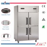 2-portes 2-Temp. Rrefrigerateur commercial / congélateur / réfrigérateur à l'acier inoxydable (1.5LG)