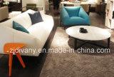 Tabella di tè rotonda del tavolino da salotto superiore di marmo di legno moderno europeo di stile (T-85A+B+C)