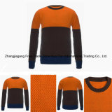Kombinierte runde Stutzen-Farbe der Männer 100% erstklassige reine der Kaschmir-Strickjacke