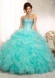 Новое платье выпускного вечера конструкции 2017 отбортовывая кристаллический подгонянное платье вечера коктеила партии,