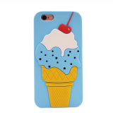 Caixa do telefone móvel dos desenhos animados do gelado para a tampa do telefone de pilha do iPhone 6 J5 J7 (XSF-068)
