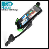 Big Phone GPS Deviceのための2 USB Car Charger Holder